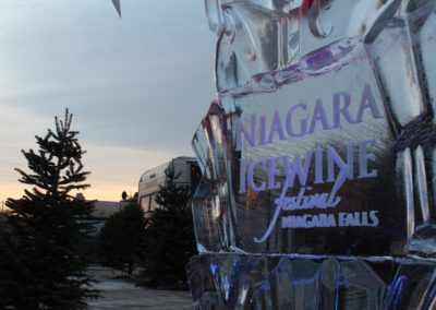 Ice Sculpture and Peller Marshmallow / Hot Chocolate Trailer